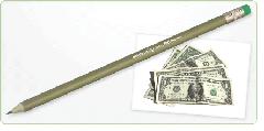 Green & Good Money Pencil