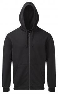 Men's coastal vintage wash loop back zip through hoodie