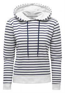 Women's Marinière coastal hoodie