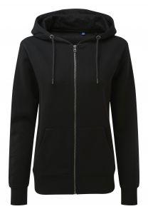 Women's zip-through organic hoodie